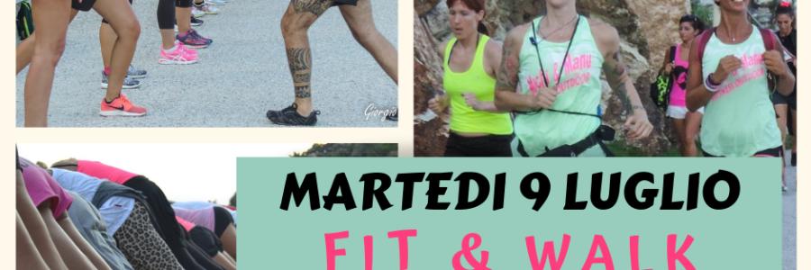 """FIT & WALK """"EROE DEI DUE MONDI"""" MARTEDI 9 LUGLIO 2019"""